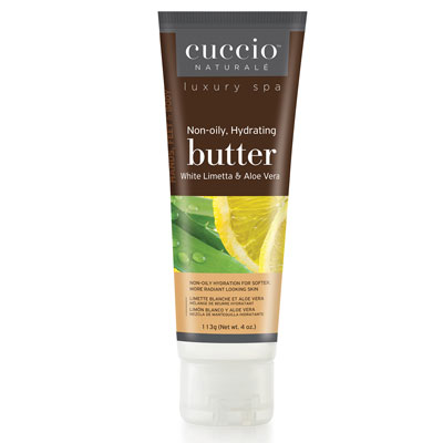Cuccio Butter blend Tube type 4oz - White Limetta & Aloe Vera